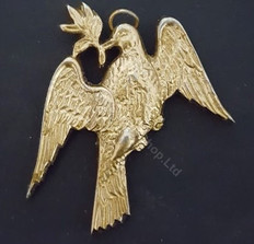 Deacons Dove  Collar Jewel  Used   color gold