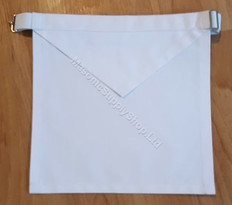 Masonic White Cotton Apron