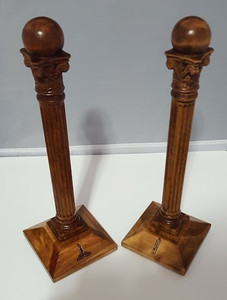 Warden's Columns 12 inch tall  Pair Scrolled