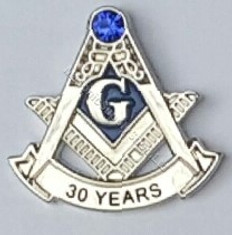 30 year Masonic Lapel Pin