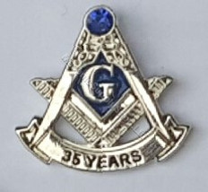 Masonic Anniversary  35  Year Lapel Pin