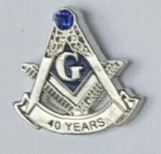 Masonic Anniversary  40  Year Lapel Pin