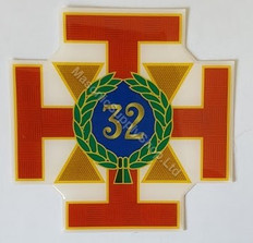 Car Decal  Scottish Rite 32nd Degree