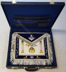 Shrine Master Mason Apron, Case and Jewel