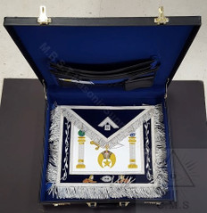Shrine Custom Past Master Apron, Apron Case and Jewel Special with  47th Emblem