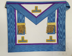 European  Past Master Masons Apron  Blue