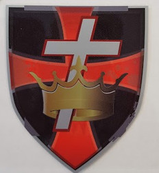 Knight Templar Crown & Cross on Shield  Car Decal