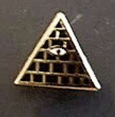 Lapel pin Eye in  Pyramid          PIN-EYEPYR