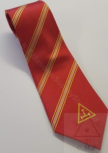Royal Arch Crimson Tie  with Red Taus