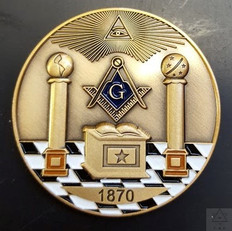 Custom Masonic Coin          Call for Pricing    ( pictures  are samples only )