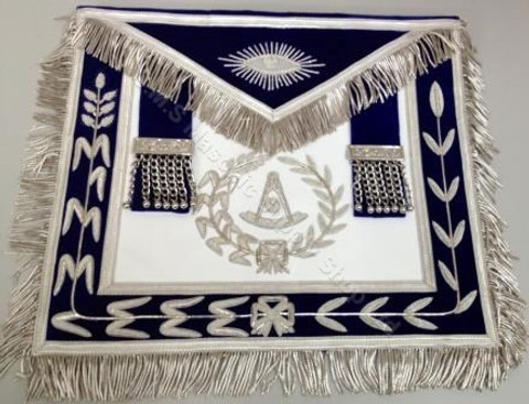 Past Masters Apron-20  Hand Embroidered