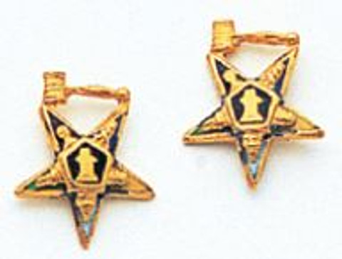 Eastern Star Earrings - Past Master Gavel