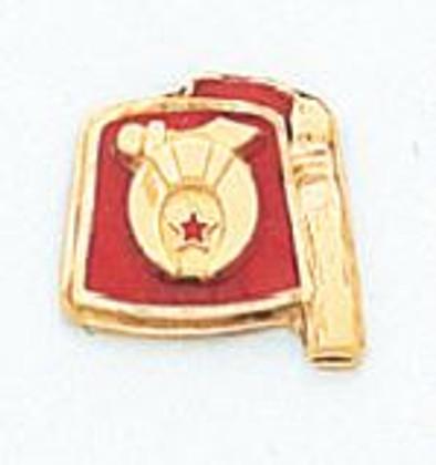 GOLD SHRINE LAPEL PIN HOM7241ET