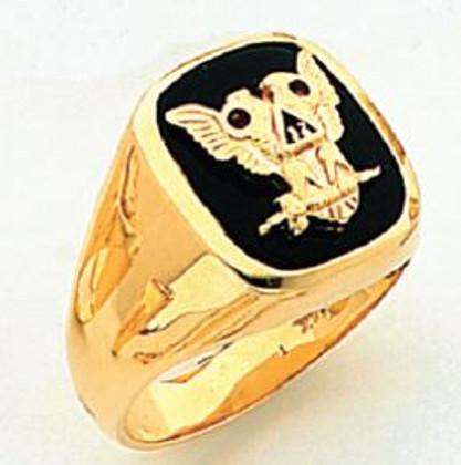 GOLD SCOTTISH RITE RING HOM60476NE-X