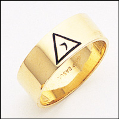 Scottish Rite Ring 03  14th Degree 8MM Gold Plated