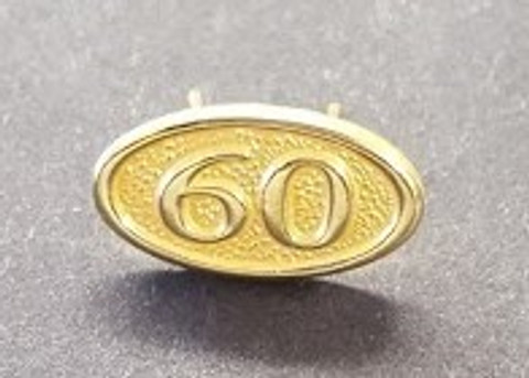 60 Year ribbon pin