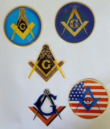 Masonic Car decals  Variety Pack-2   5 Decals