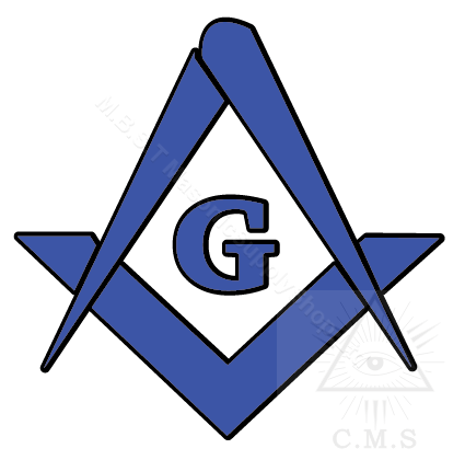 Masonic Square and Compass  car decal