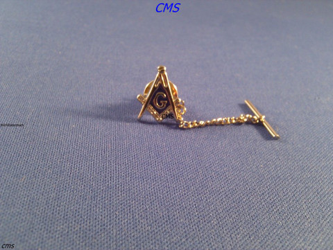Masonic Tie Tac  Square & Compass   Gold