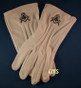 Masonic Dress Gloves with Square & Compass