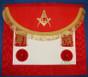 Scottish  Master Mason  Aprons Crimson Red