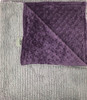 Delore Baby Grey Sweater/ Purple Minky Dot Baby Blanket