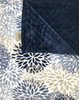 Delore Baby Blue Blooms/ Navy Minky Dot Baby Blanket