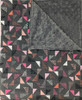 Delore Baby Coral Flag Prism/ Grey Minky Dot Baby Blanket