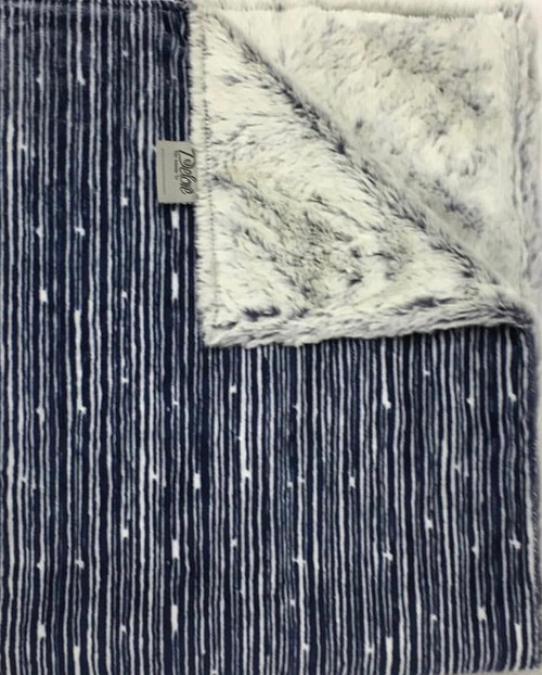 Delore Baby Navy Rain Shower/ Navy Frosted Luxe Baby Blanket
