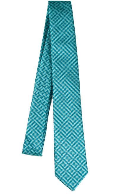 Boys Teal Cross Tie