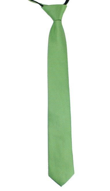 Boys Dotted Green Zip Tie