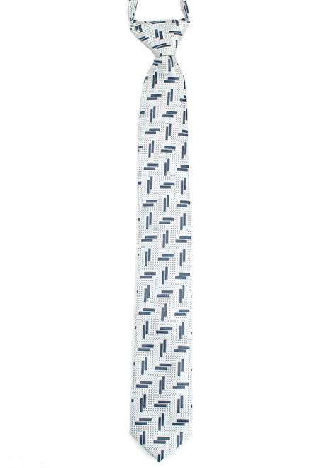Boys White Little Bar Zip Tie