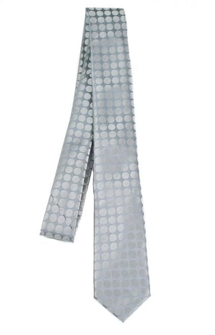 Boys Grey Mod Dot Tie