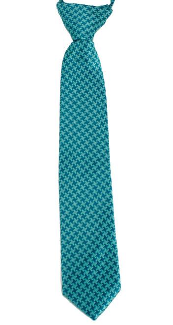Boys Aquamarine Cross  Zip Tie