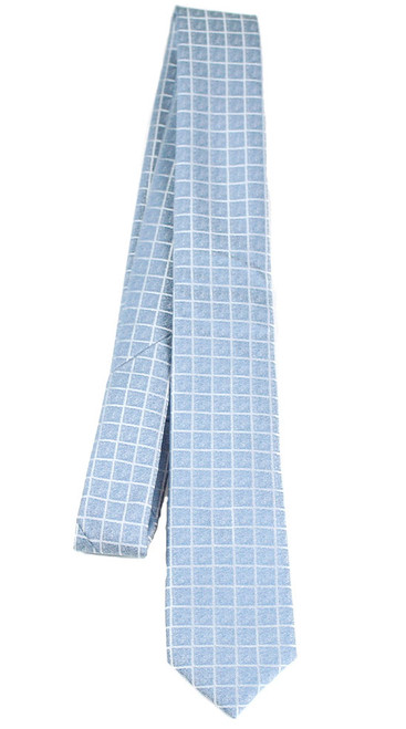 Boys Blue Square Lined Tie