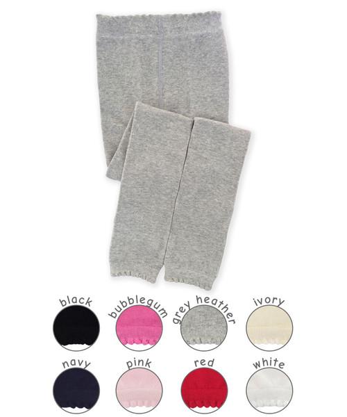 Jefferies Scalloped Pima Cotton Footless Tights