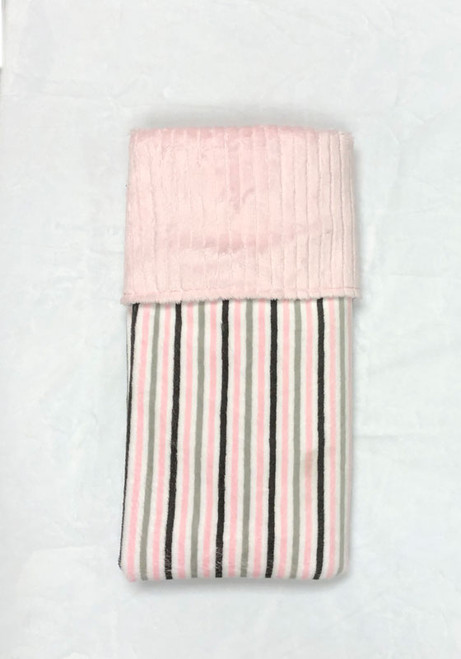 Babyboo Collection Baby Blanket Pink Pinstripe