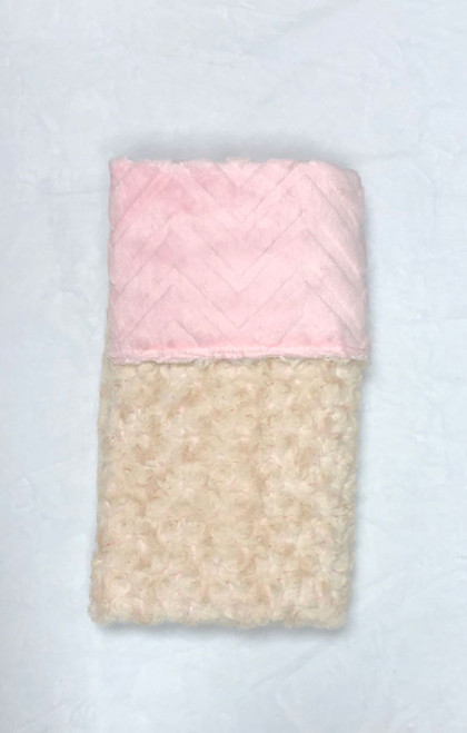 Babyboo Collection Baby Blanket Cream and Pink Rosebud