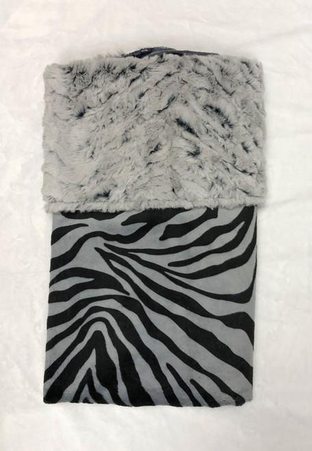 Babyboo Collection Baby Blanket Black and Grey Zebra