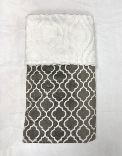 Babyboo Collection Baby Blanket Grey Lattice