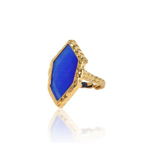Blue Rhombus Ring
