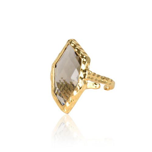 Crystal Rhombus Ring