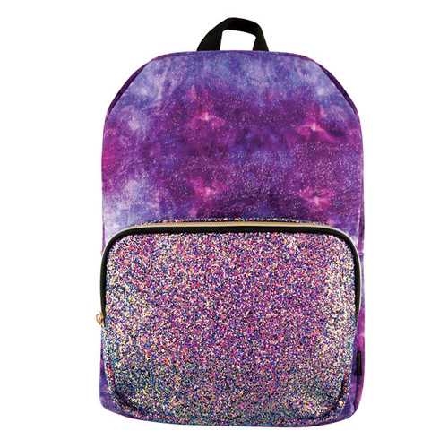 Galaxy Velour with Glitter Front Pocket