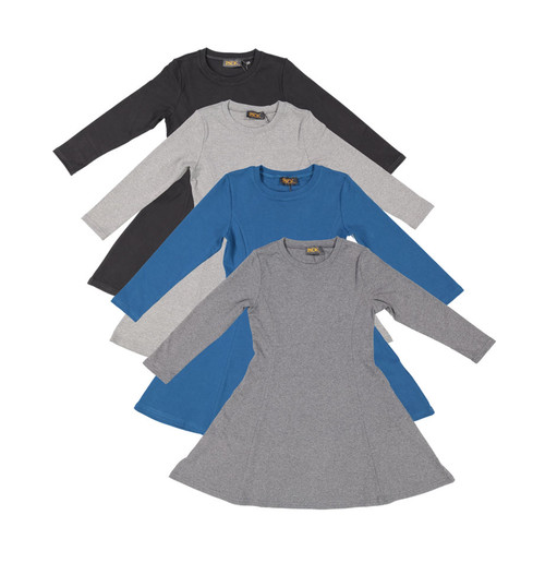 Girl's Long Sleeve Cotton Dress