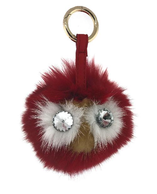 Fox Fur Owl Keychains