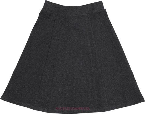 Girl's Heather 6 Pleat Skirt