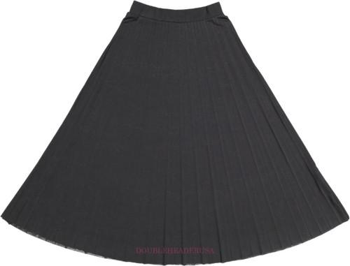 Girl's Long Pleated Skirt