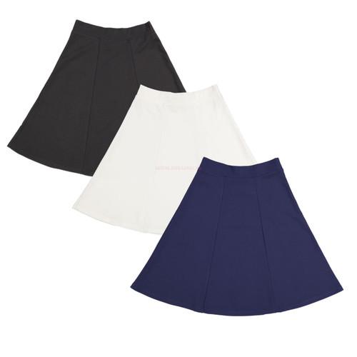 Girl's Lycra 6 Pleat Skirt