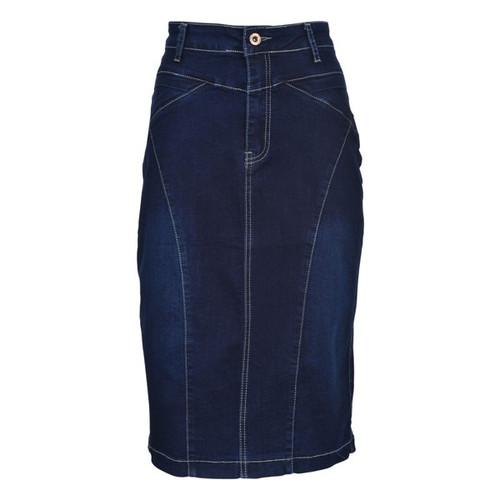 BGDK Ladies Lined Denim Pencil Skirt