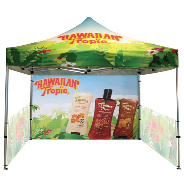 Classic Indoor/Outdoor Canopy Frame+Top+2 half sidewall single side+backwall double side